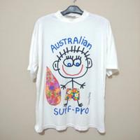 t-shirt Vintage 90s Danny first koala blue Australia surf pro no Enime