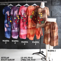 Setelan Kulot Baby Doll Daster Baju Pakaian Tidur Batik Pekalongan 15
