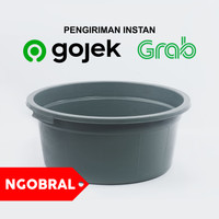 Baskom Plastik Besar GREY Diameter 45 cm / Ember Bak Plastik NGO