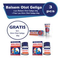 Balsem Otot Geliga 20gr 2 Pcs free Geliga Krim 30gr