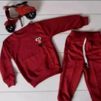Setelan sweater bermotif elmo 1 - 5 Thn / sweater anak elmo