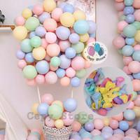 Balon Latex Macaron / Balon Warna Pastel 10 inch Per Pack (100pcs)
