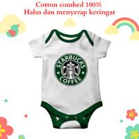 Baju jumper bayi karakter unik dan lucu motif starbucks