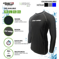 Clear Water Baju Renang Diving Atasan Pria Lengan Panjang MS012 - Hitam, L