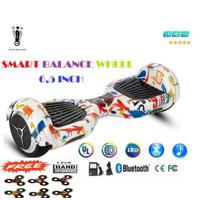 Smart Balance Wheel 6,5 Inchi / Hover Board Smart wheel balance - GRAFFITY WHITE