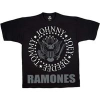 Baju Kaos Tshirt Punk RAMONES Liquid Blue Reguler Fit Hey Ho Lets Go - M