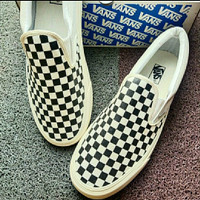 Sepatu Pria big size jumbo Vans checkerboard Slip On 44 45 46