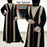 Abaya Turkey Hitam Dubai Arab Gamis Wanita Dress Muslimah Baju Syari - S