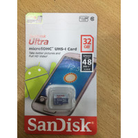 Sandisk ULTRA MicroSD 32GB / Memory Card 32 GB Up To 80MB/s Class 10