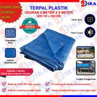 Terpal plastik 6 x 8 M murah / terpaulin / tenda / penutup / sarung
