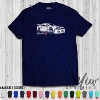 Kaos/Baju Distro/Tshirt Nissan Skyline GTR R34 White