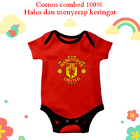 Baju jumper bayi karakter unik dan lucu motif manchester united