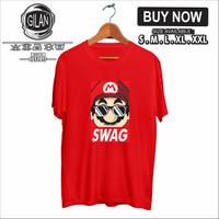 Kaos Baju SUPER MARIO SWAG Kaos Distro Game Nintendo Switch - S