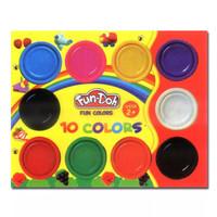Fun Doh Refill 10 Dough Lilin Mainan Anak FunDoh / PlayDoh / Play Doh - MIX 10 DOH