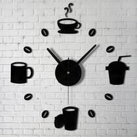 Jam Dinding Besar DIY Model Kopi Cafe 40-70cm Taffware DIY-07