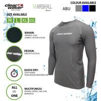 Clear Water Baju Renang Diving Atasan Pria Lengan Panjang Premium