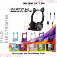 Headset Gaming Telinga Kucing With Microphone Headphone Anak Lucu
