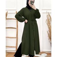 Long Tunik Mossy Army [Gamis 0152] UA9 Baju Gamis Wanita Terbaru