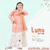 Setelan Rok Anak Tunik Luna Series Labella Peach