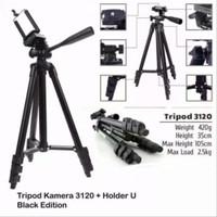 Tripod Hp Kamera Weifeng 3120 Free Holder U Hitam tinggi 1meter