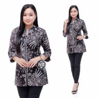 Atasan Batik Kerja Wanita, Blouse Bluse Batik Modern, Baju Kerja Cewek