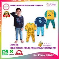 Kazel Setelan Baju Celana Panjang|Piyama Boy 0-6 Thn BAT Edition 3Stel
