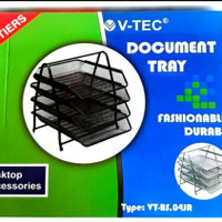Letter Tray / Bak Surat Besi V-Tec 4 Susun VT-BS.04JR