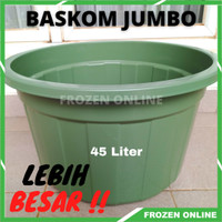 Baskom Plastik Jumbo Ember Cuci Baju 45 Liter Bak Besar USA ANTI PECAH