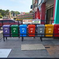 tempat/tong sampah fiber kotak 7 pilah termurah