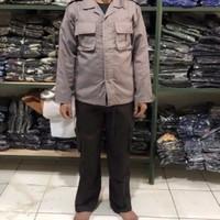 SETELAN BAJU SERAGAM DINAS SECURITY SATPAM PDL PANJANG COKELAT TERBARU