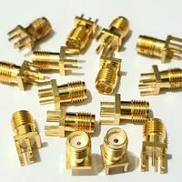 Konektor PCB SMA Female Jack RF Adapter Coaxial Gold