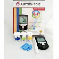 Alat Autochek GCU 3 In 1 Alat Tes Gula Darah kolesterol dan Asam Urat