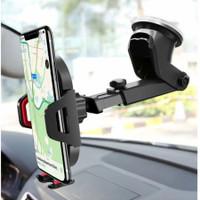 Car Phone Holder Hp Di Dashboard Mobil dan Kaca Mobil 360 derajat Gps