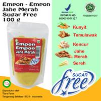 Empon - Empon Jahe Merah Sugar Free 100 g (Tanpa Gula) Tiara Farm
