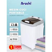 MESIN CUCI 1 TABUNG 4.5 KG PORTABLE TOP LOADING ARASHI AWM 451A