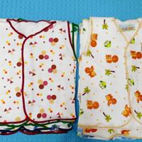 baju bayi kancing depan lengan kutung/3 pcs/SNI/0-3 Bulan