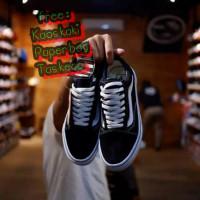sepatu pria Sneakers vans old school quality import - Hitam, 37