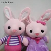 Boneka Kelinci Couple Baju Cute Rabbit Pasangan Kado Hadiah Valentine
