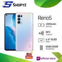 OPPO RENO 5 RENO5 - 8GB 128GB 8/128 - 64MP - 50W VOOC - GARANSI RESMI