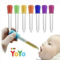 Pipet tetes obat bayi anak 5ml / alat tetes serbaguna / pipet silikon