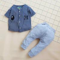 setelan baju bayi anak laki Motif Baseball umur 6 bln-2,5 tahun - Navy, 1