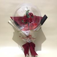 Buket bunga gliter dalam balon high quality cantik, murah dan unik