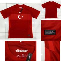 Jersey Kaos Baju Sepak Bola Timnas Turki Turkey Home Merah 2020 2021