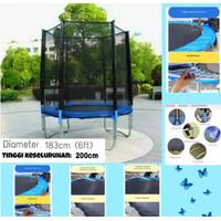 Trampoline 183cm Trampolin with Safety Net PlayGround Sport Kids Adult