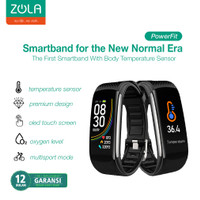 Zola PowerFit Smartband Colour Display With Body Temperature Sensor