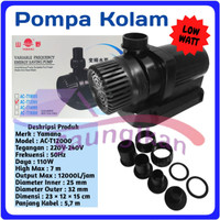 Pompa Air Power Head Kolam YAMANO AC - T12000 ACT 12000 Low watt