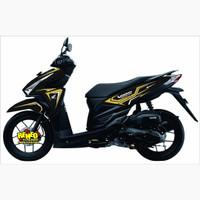 STRIPING VARIO gold/honda vario/CUTING STICKER /ASESORIS MOTOR