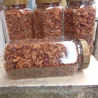 Bawang goreng kriuk asli brebes, komposisi murni + tepung 5%