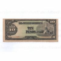 Uang kuno jepang pendudukan Philipina 1943,10 peso