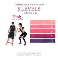 Resistance Band Pink Edition Karet gym for exercise workout yoga
